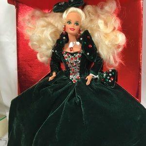 Vtg 1991 Mattel Happy Holidays Christmas Barbie